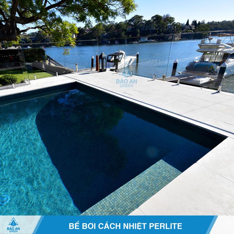 Bể bơi cách nhiệt với bê tông Perlite