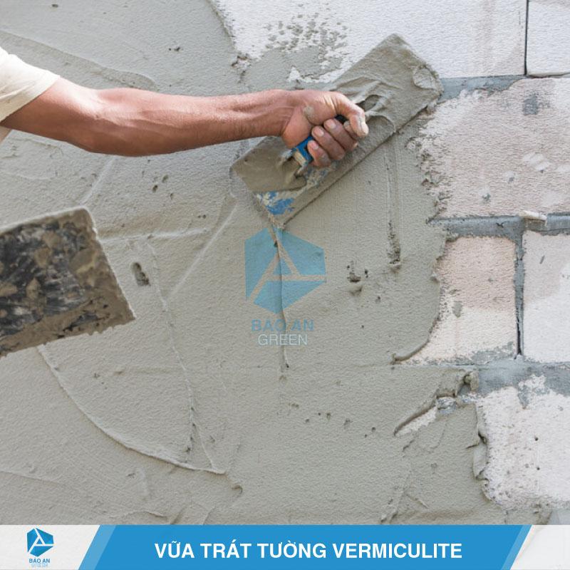 Vữa trát tường với Vermiculite
