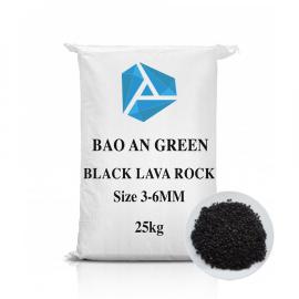 Đá Lava màu xám đen 3-6mm